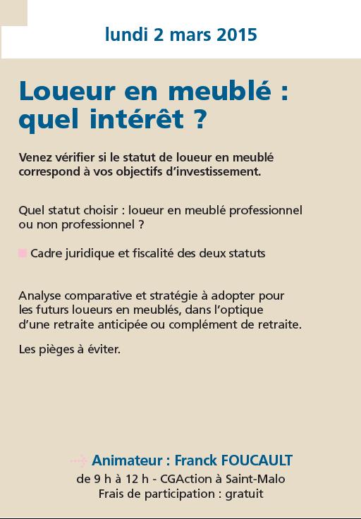 Cga formation programme de mars avril et mai 2015 for Loueur en meuble