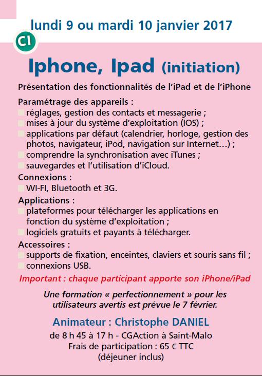 Iphone, Ipad (initiation)