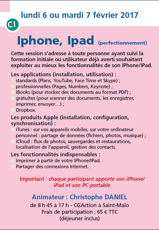 Iphone, Ipad (perfectionnement)