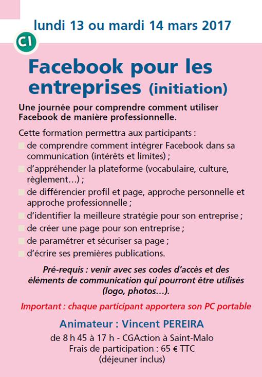 Facebook pour les entreprises (initiation)