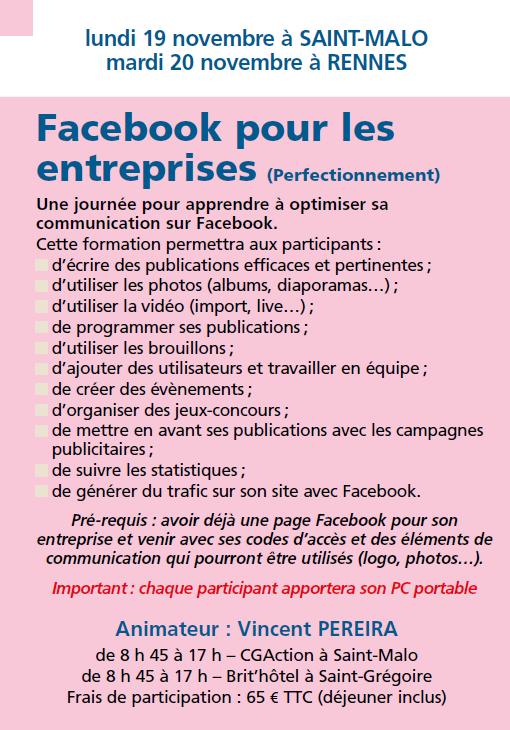 Facebook pour les entreprises (perfectionnement)