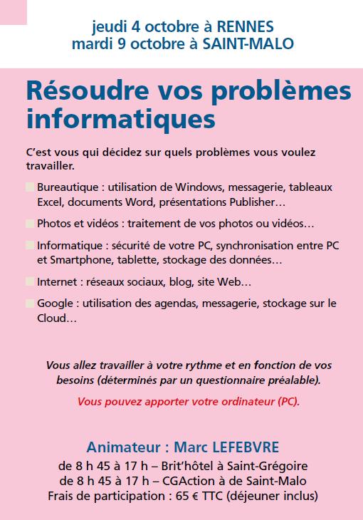 Résoudre vos problèmes informatiques