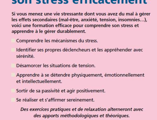 Apprendre à gérer son stress efficacement
