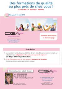 Programme Formation CGA Artisan Commercant mars avril et mai 2019