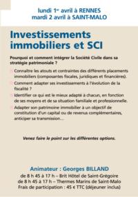 Investissements immobiliers et SCI