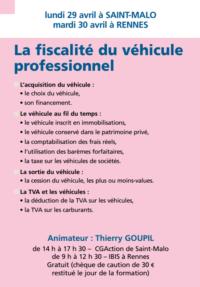 La fiscalité du véhicule professionnel