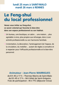 Le Feng-shui du local professionnel