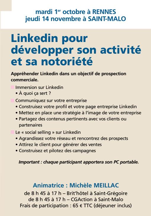 Linkedin pour développer son activité et sa notoriété